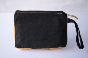 Leather Wristlet Clutch - Blessed