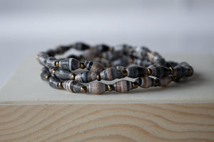 Recycled Paper Bead Bracelet - Grace