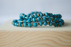 Recycled Paper Bead Bracelet - Hope
