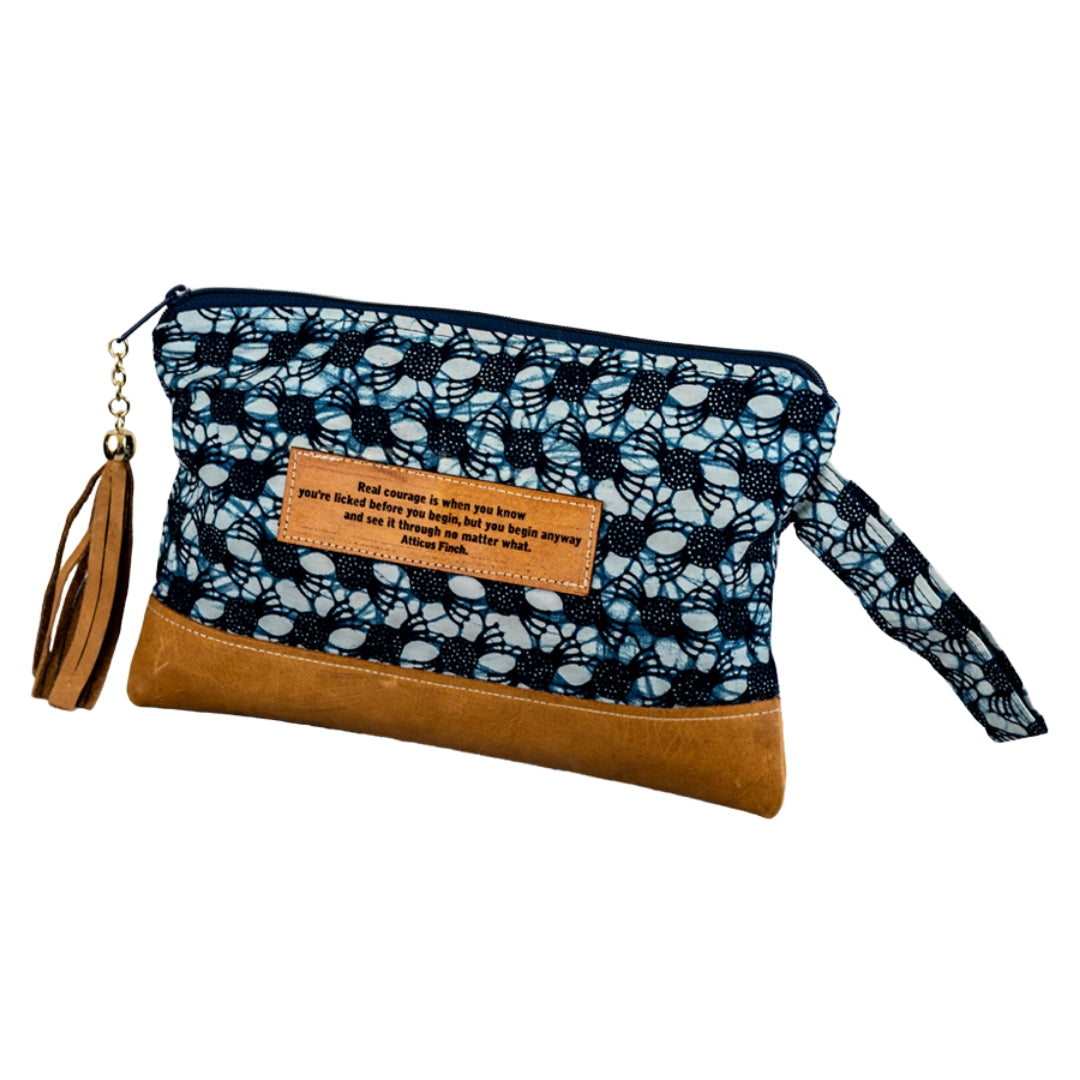 Leather Wristlet Clutch - Atticus Finch