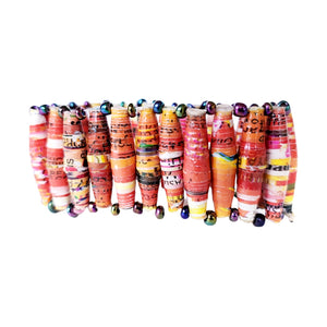 Recycled Paper Bead Bracelet - Abide