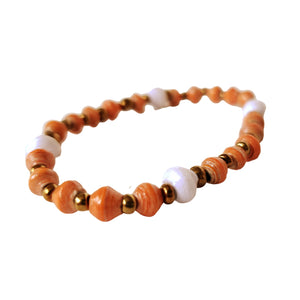 Recycled Paper Bead Bracelet - Authentic