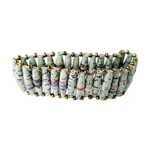 Recycled Paper Bead Bracelet - Calm