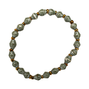 Recycled Paper Bead Bracelet - Comfort