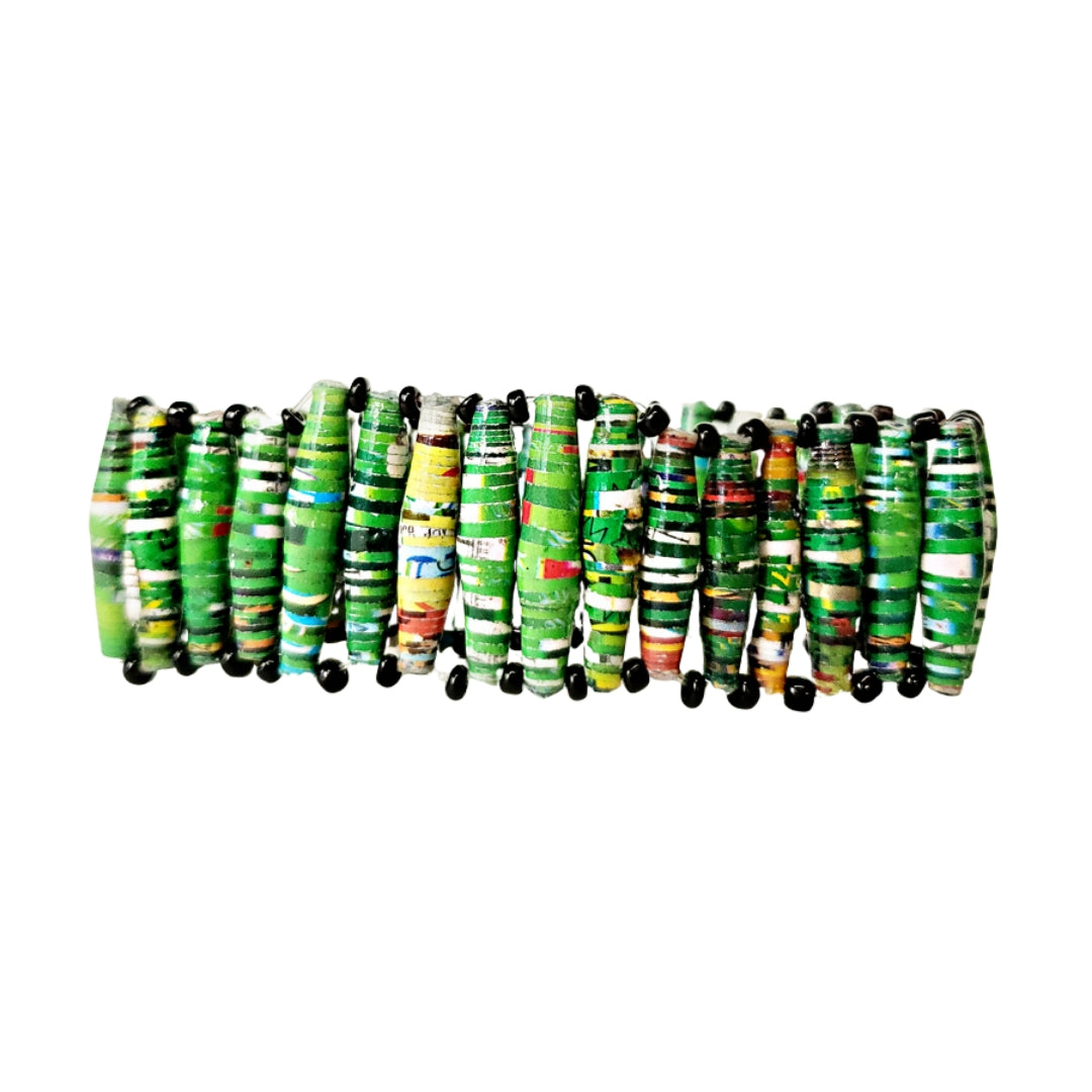 Recycled Paper Bead Bracelet - Grow