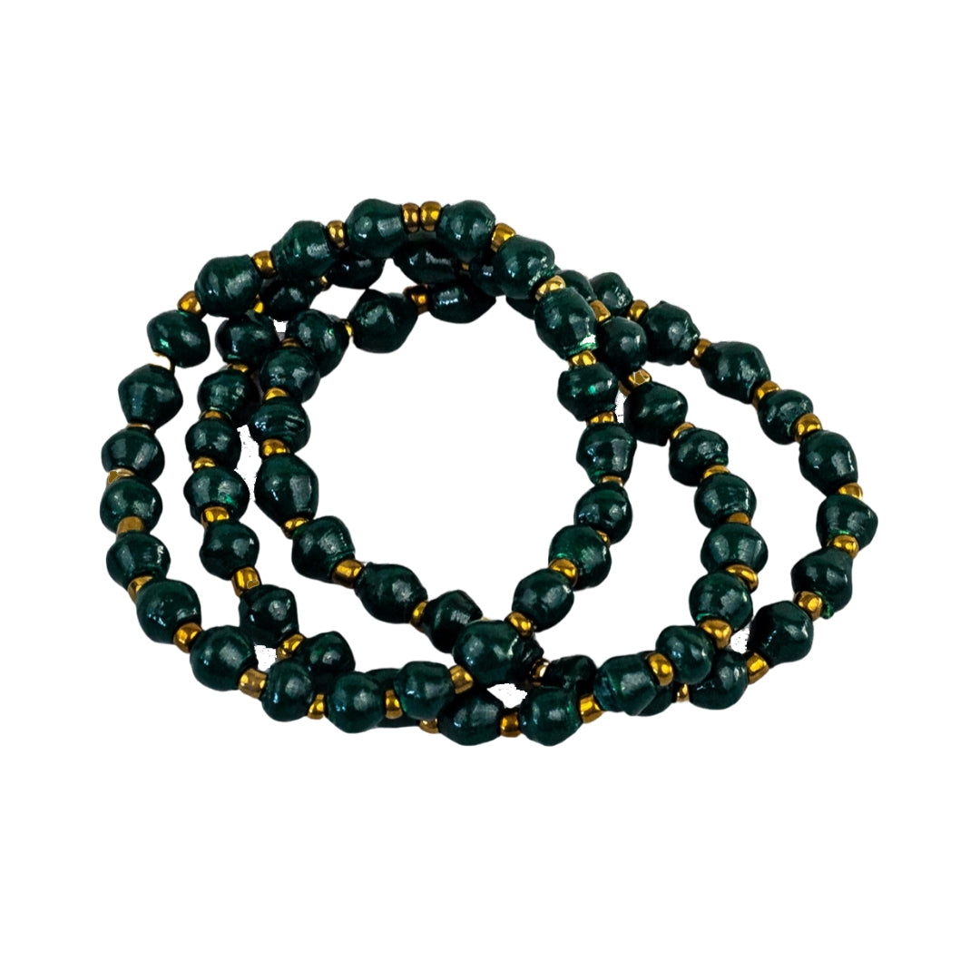 Recycled Paper Bead Bracelet - Shadow