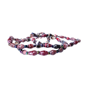 Recycled Paper Bead Bracelet - Secure