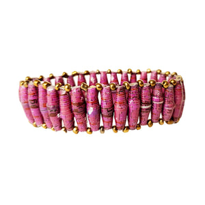 Recycled Paper Bead Bracelet - Integrity
