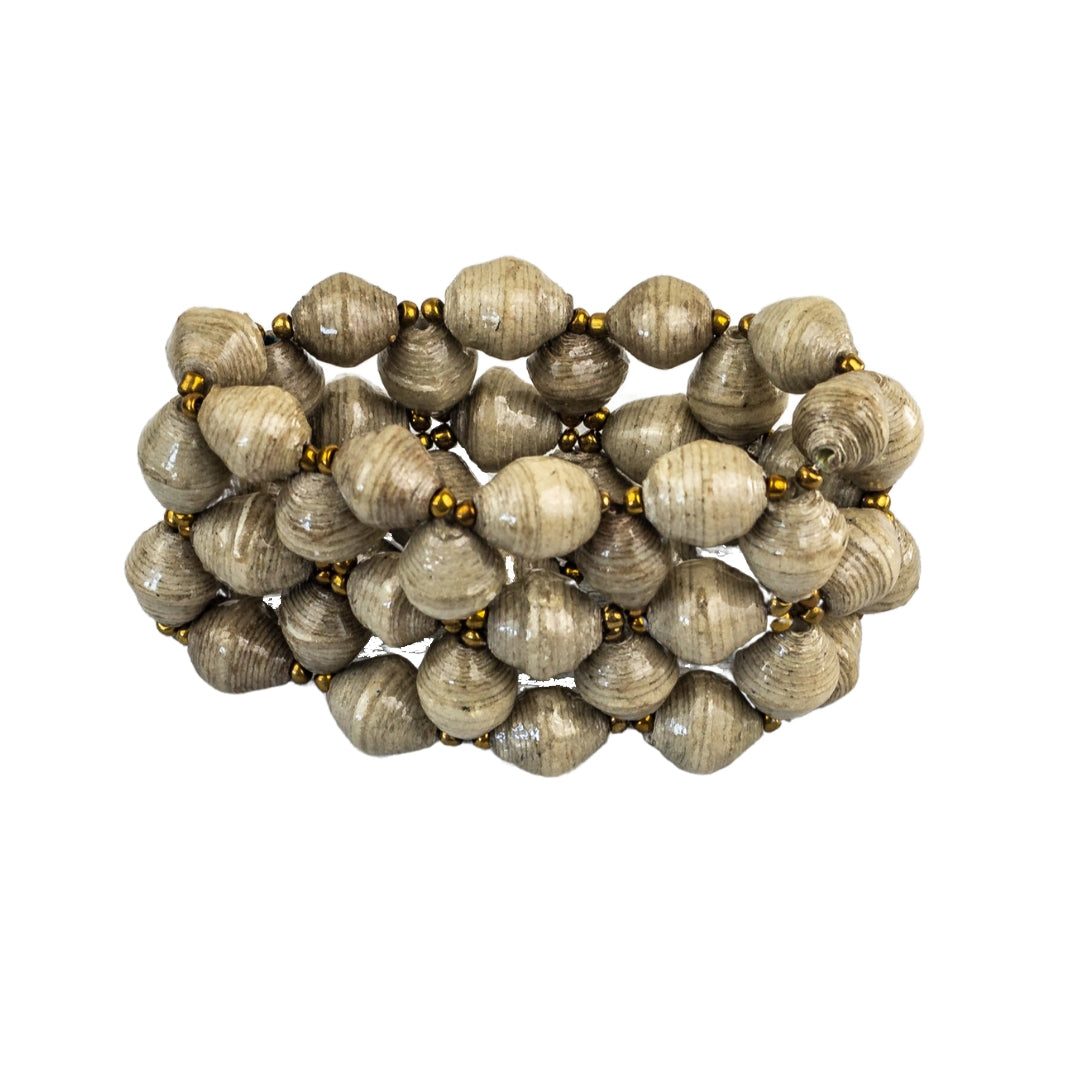 Recycled Paper Bead Bracelet - Refinement