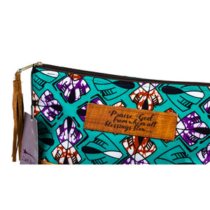 Leather Wristlet Clutch - Blessings