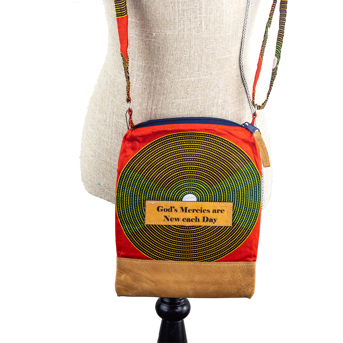 Fabric & Leather Crossbody Purse - God's Mercies