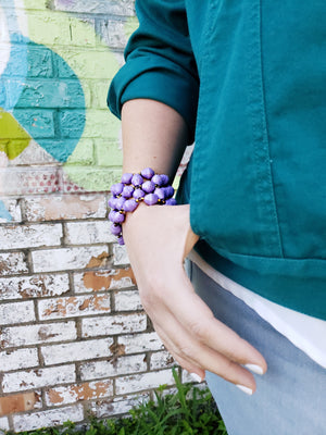 Recycled Paper Bead Bracelet - Insight