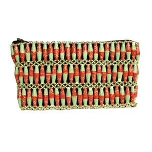Recycled Paper Bead Clutch - Coral Duo