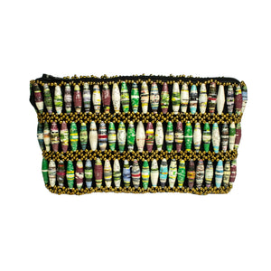 Recycled Paper Bead Clutch - Multi