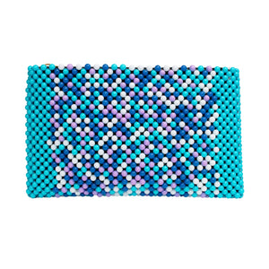 Acrylic Bead Clutch - Blues