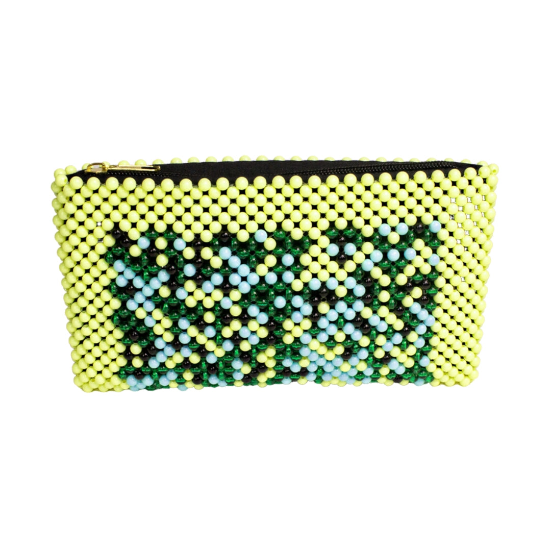 Acrylic Bead Clutch - Pale Yellow