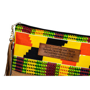 Leather Wristlet Clutch - Psalm 23:6