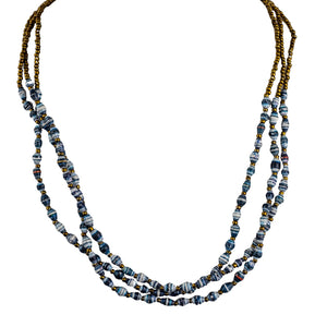 Recycled Paper Bead Necklace - Abundance