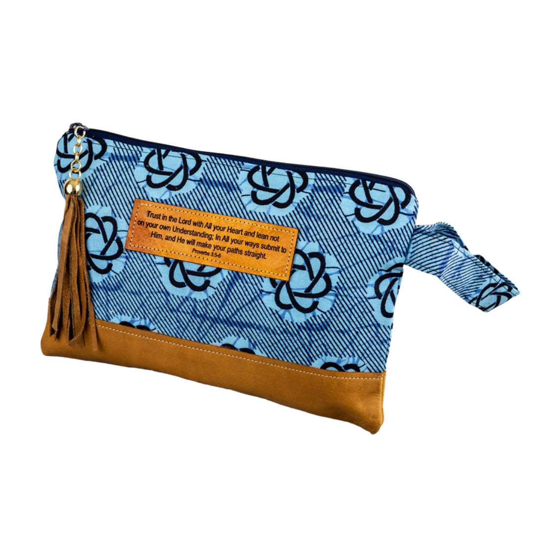 Leather Wristlet Clutch - Trust in the Lord