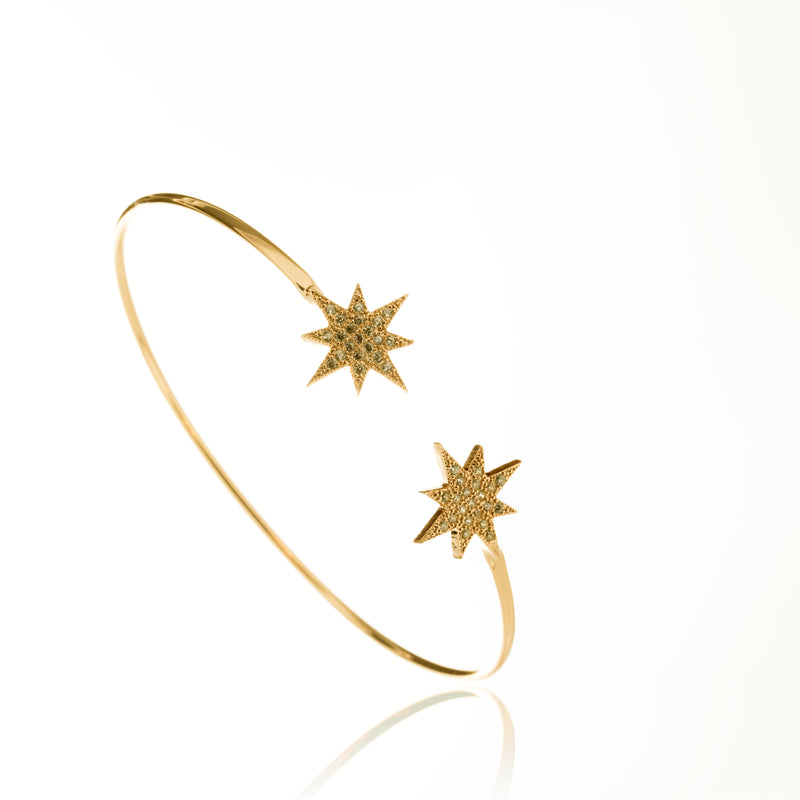 Starburst cuff shine you light bracelet