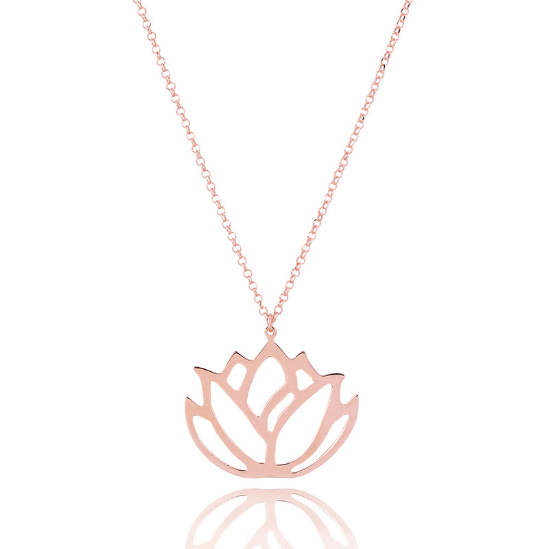 Large lotus faith necklace