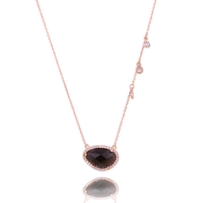 Single stone and shimmer chakra necklace