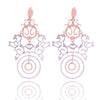Hippy chic filigree two tone glitter earing