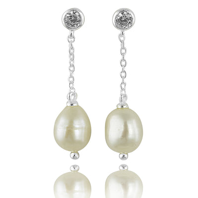 Pearl of wisdom single drop earing