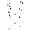 Black onyx and labradorite base chakra classic long necklace