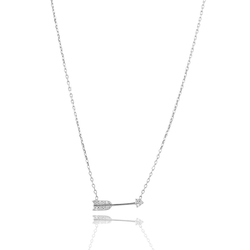 Go on your path faith arrow necklace