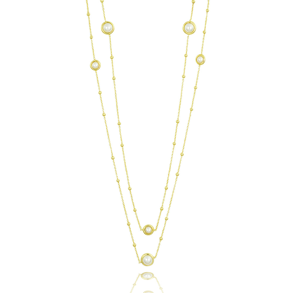 Pearl encased classic long -Necklace