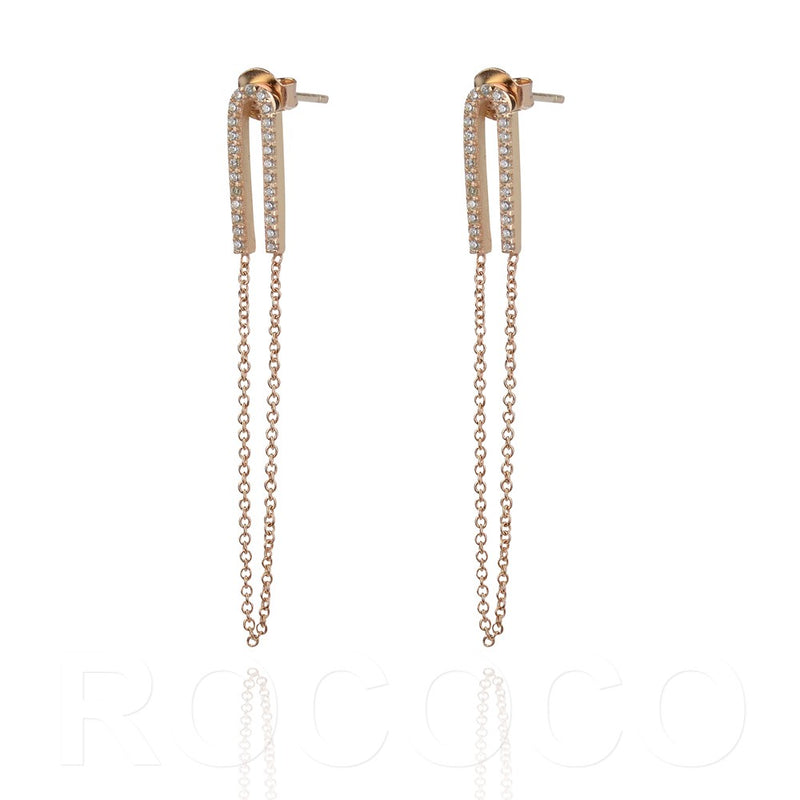 Closed chain glitter earing