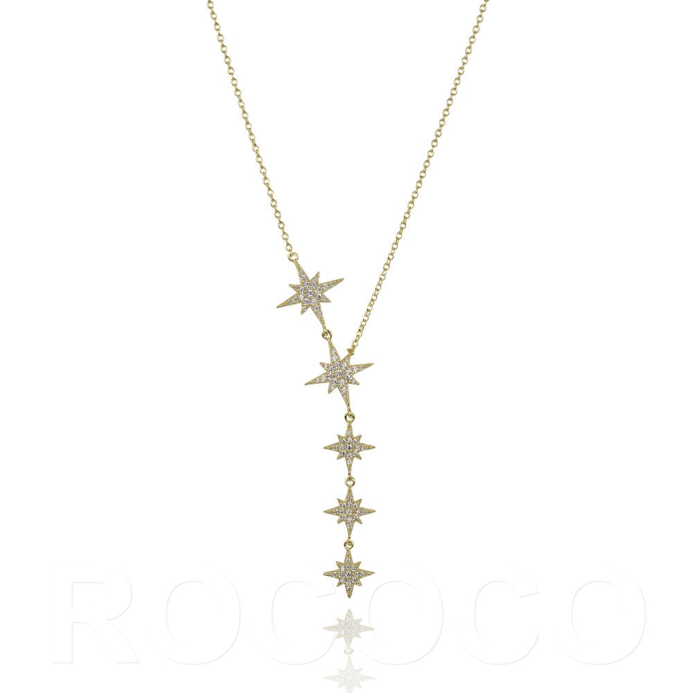 Shine your light brightly star drop necklace