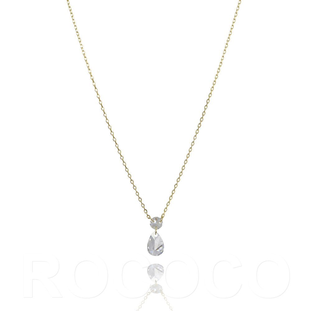 Pear shape magic drop necklace