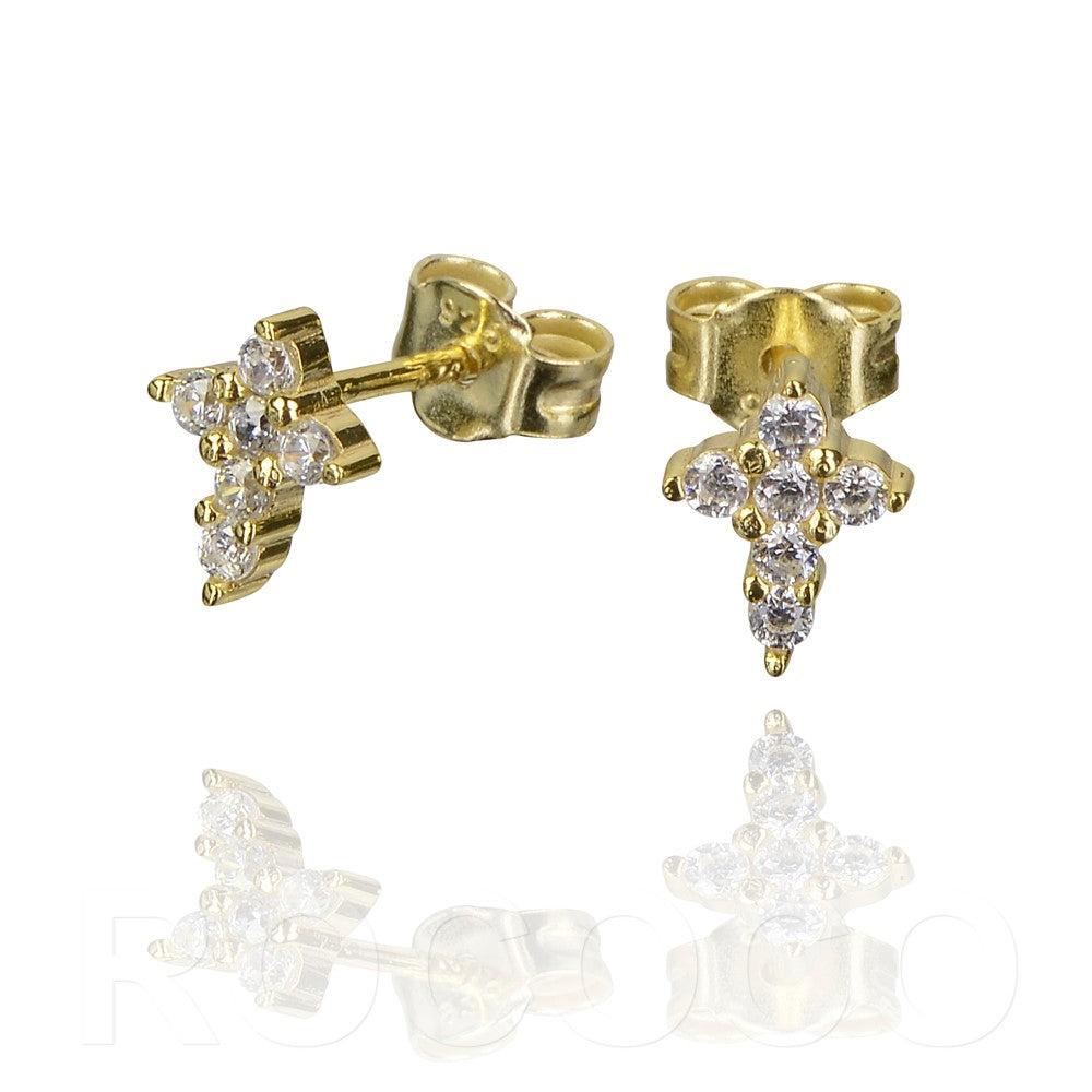 Cross faith stud earings