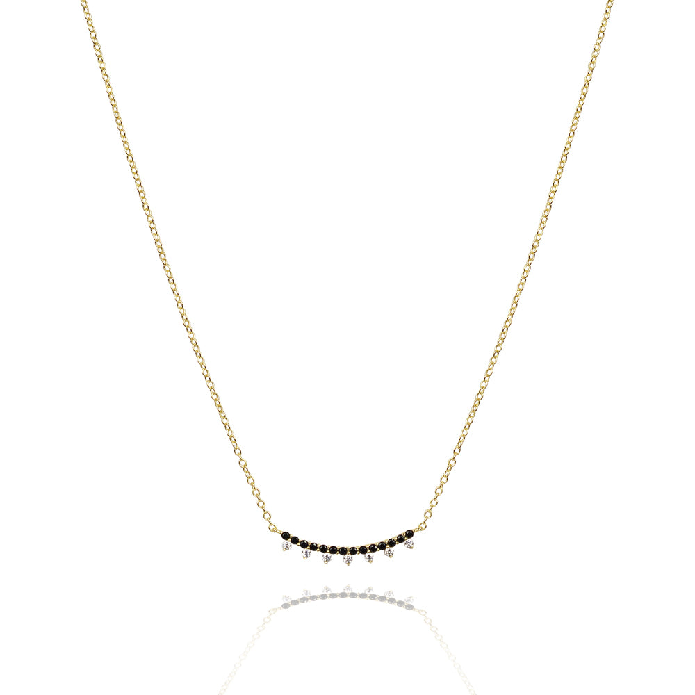 Black magic glitter  bar necklace