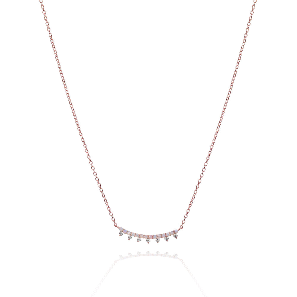 Glitter Bar pink necklace