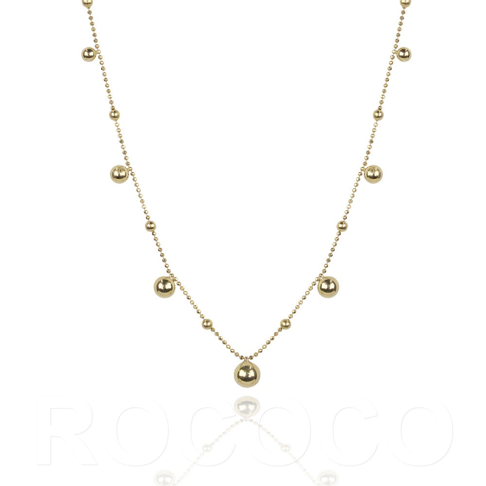 Round ball multi circle karma classic necklace