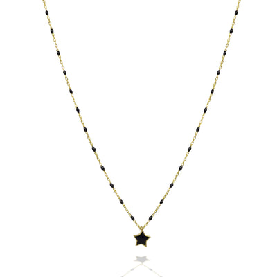Shine your light enamel star necklace