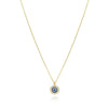 Evil eye  good luck round classic necklace