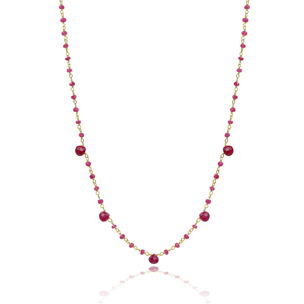 Short red base chakra  Necklace