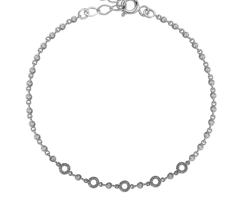 Multi karma circles links bracelet.