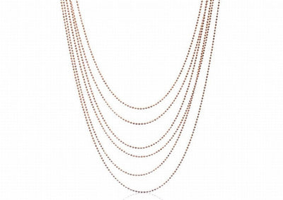 Multi strand classic glitter necklace