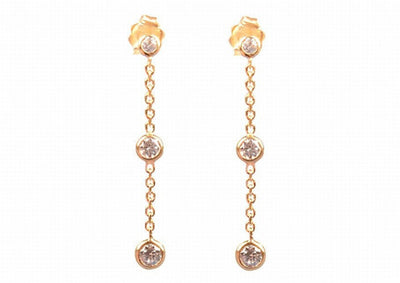 Classic diamond by the yard drop glitter earings
