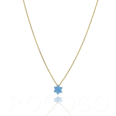 Star of david faith opalite necklace