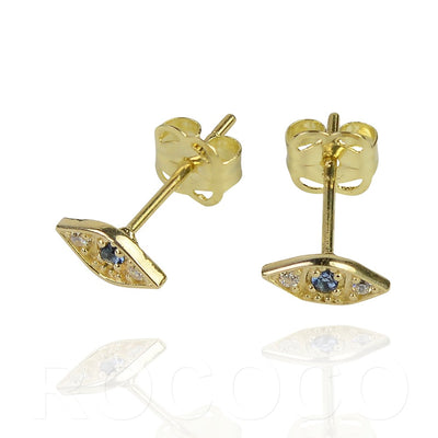 Solid gold good luck and protection studs