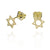 Magen David solid gold faith earings