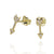 Follow your dream faith solid gold arrow earings