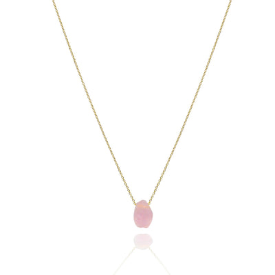 Raw single stone solid gold chakra necklace