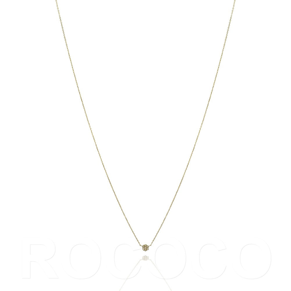 Solid gold circle of life necklace